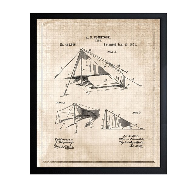 Tent 1891 Framed Graphic Art by Loon Peak
