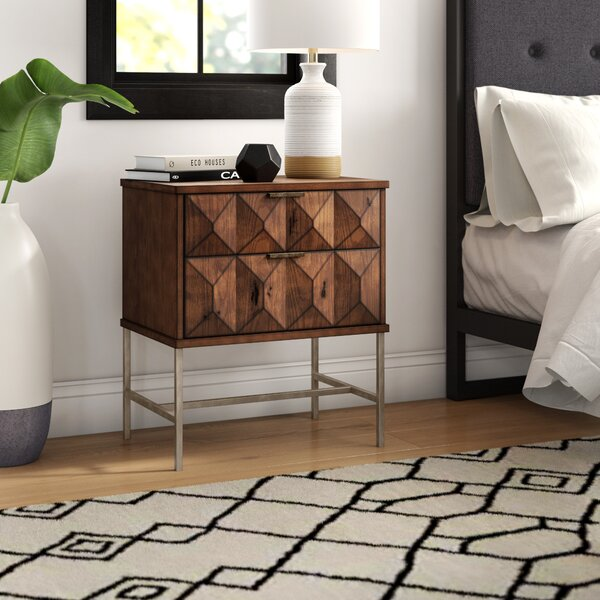 Mccaskill 2 Drawer Nightstand By Mercury Row by Mercury Row 2020 Sale