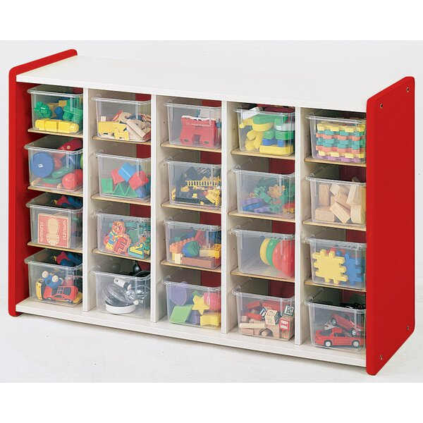 1000 Series 20 Compartment Cubby with Tray by TotM