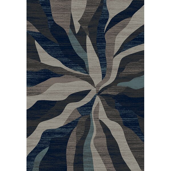 Mccampbell 3D Modern Contemporary Abstract Gray Area Rug by Ivy Bronx
