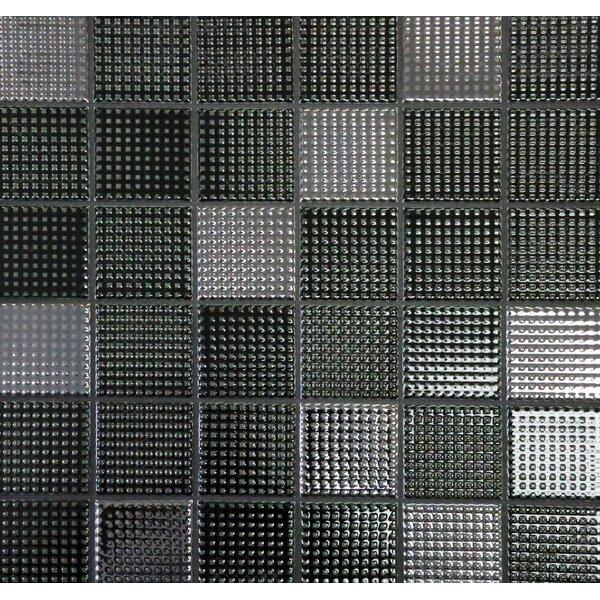 Keijo 2 x 2 Porcelain Mosaic Tile in Daku by Solistone