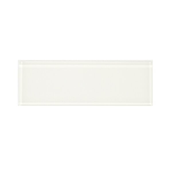 Premium Series 3'' x 9'' Glass Subway Tile in White by WS Tiles