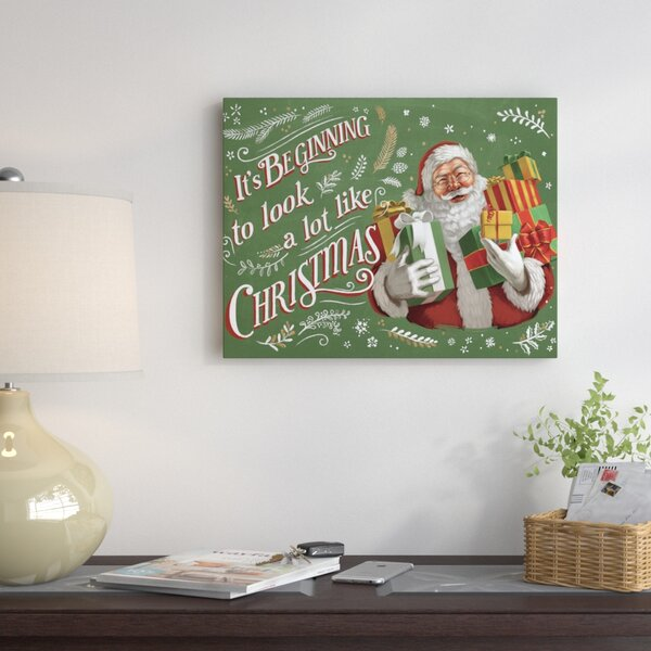 Santas List Graphic Art on Wrapped Canvas by The H