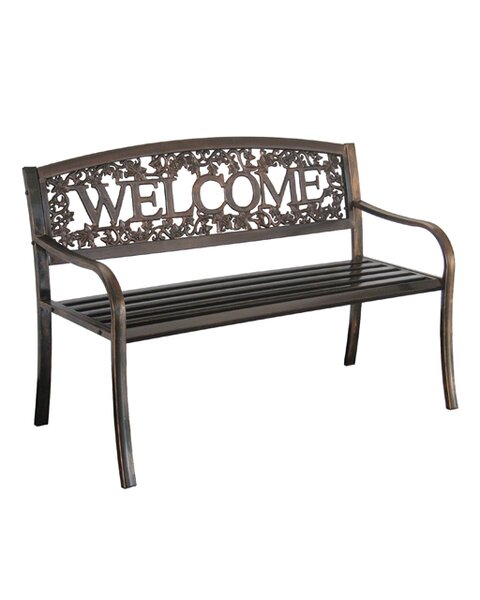 Welcome Steel Garden Bench by Leigh Country