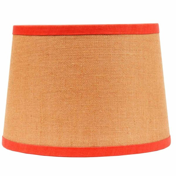 14 W Cotton Empire Lamp Shade ( Clip On ) in Yellow/Red