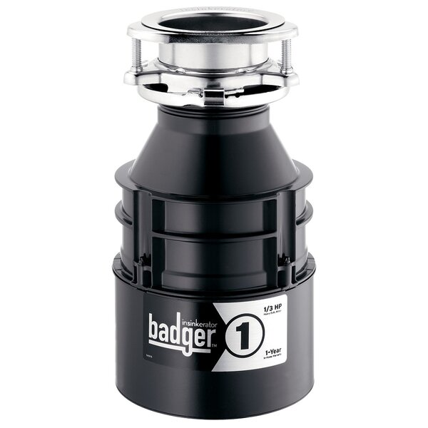 Badger 1 1/3 HP Continuous Feed Garbage Disposal (With Optional Power Cord) by InSinkErator