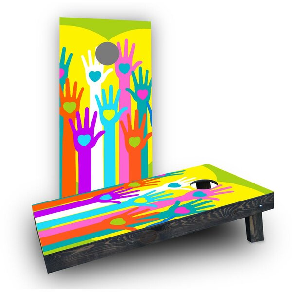 Gay Pride Hands of Love Cornhole Boards (Set of 2) by Custom Cornhole Boards