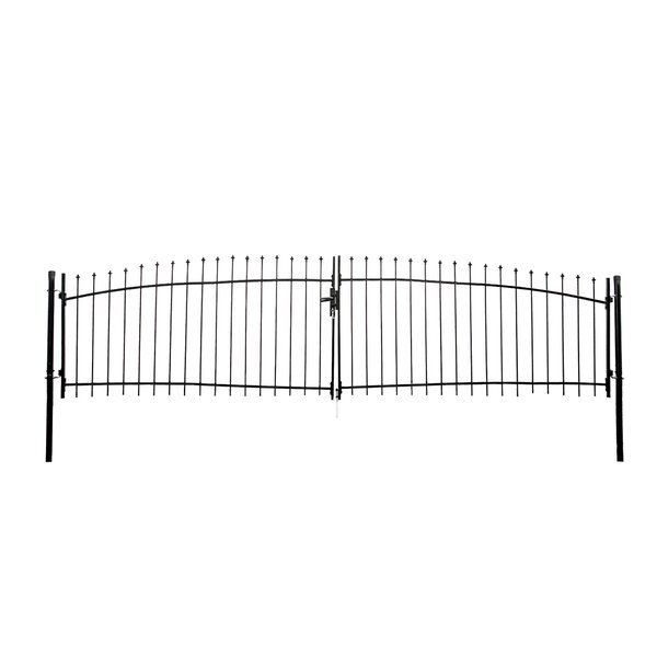 ALEKO Diy Arched Steel Dual Swing Driveway Gate Kit with Lock - Athens Style - 15 x 5 Feet by ALEKO