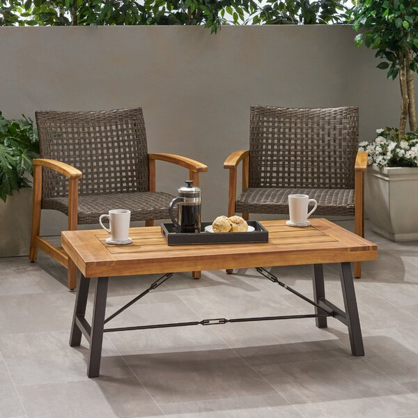 Berghauser Solid Wood Coffee Table By Gracie Oaks