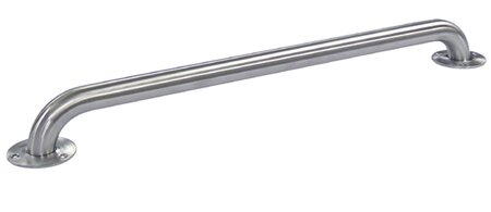 48 Decorative Textured Grab Bar with Concealed Screw in Satin Nickel by Elements of Design