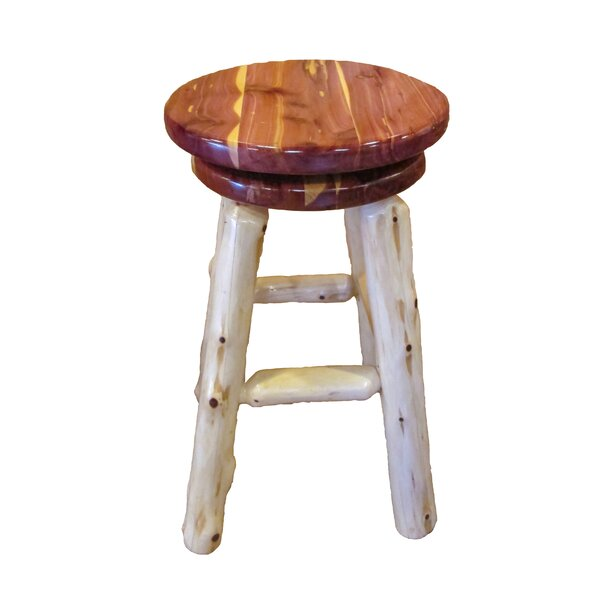 Myrtle Swivel Bar Stool by Millwood Pines