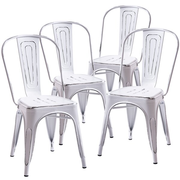 Curry Distressed Dining Chair (Set of 4) by Williston Forge