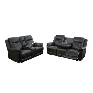 Alisse 2 Piece Faux Leather Reclining Living Room Set by Ebern Designs