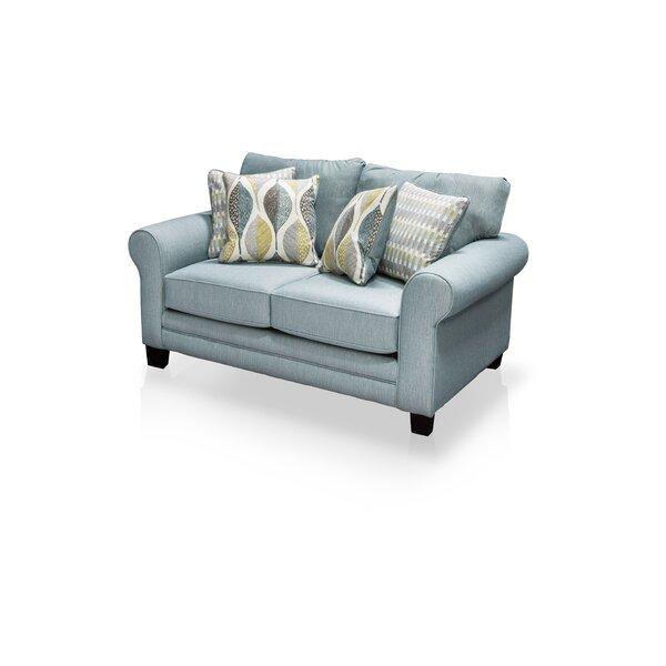 Azula Upholstered Loveseat by Hokku Designs