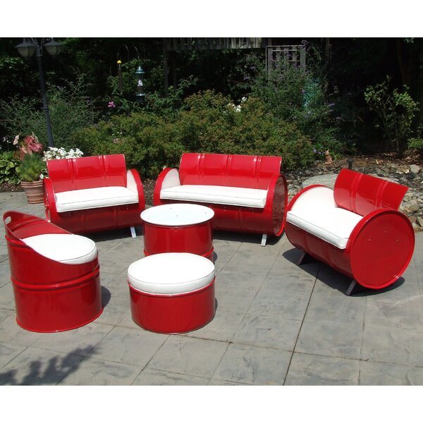 6 Piece Sofa Set with Cushions by Drum Works Furniture