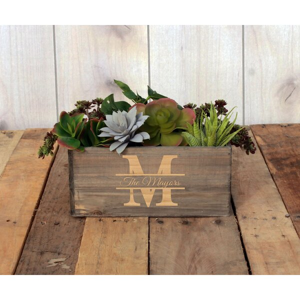 Walnut Wood Planter Box by Etchey