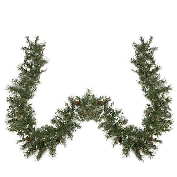 Pre-lit Snow Mountain Pine Artificial Christmas Garland by Northlight Seasonal