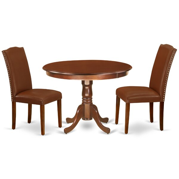 Renningers 3 Piece Solid Wood Breakfast Nook Dining Set by Winston Porter Winston Porter