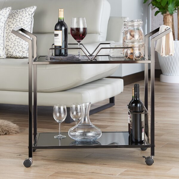 Babbitt Contemporary Kitchen Bar Cart by Orren Ellis