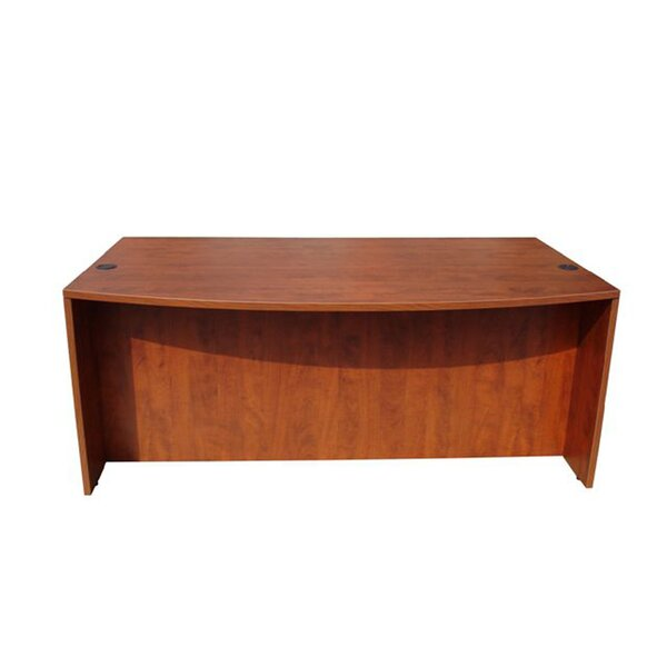 Wood Bow Front Executive Desk Shell by Boss Office Products