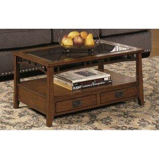 Landrienne Rectangular Coffee Table Loon Peak