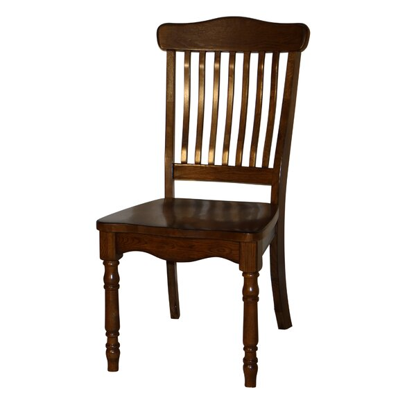 Amos Bent Spindle Back Solid Wood Dining Chair (Set of 2) by Darby Home Co