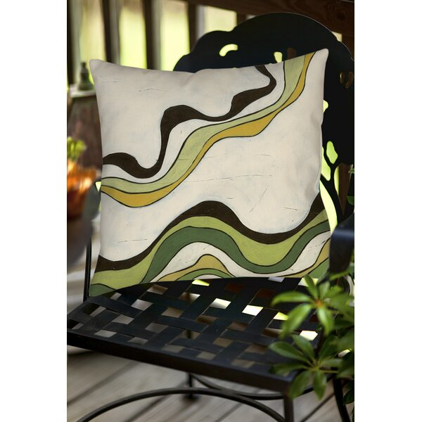 Bandeau 2 Indoor/Outdoor Throw Pillow by Manual Woodworkers & Weavers