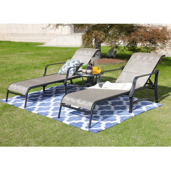 Pawlak Sun Lounger Set with Table by Alcott Hill