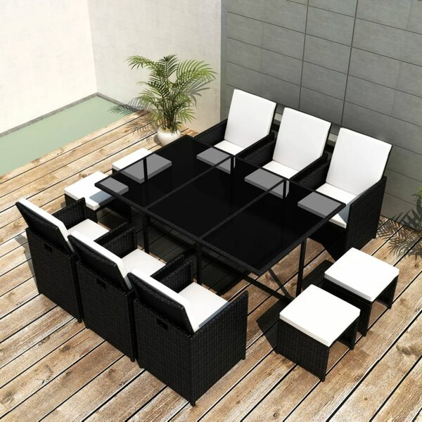 Buttram 11 Piece Dining Set with Cushions by Brayden Studio