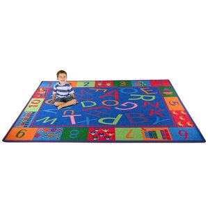 Alphabet And Numbers Teaching Toddler Area Rug