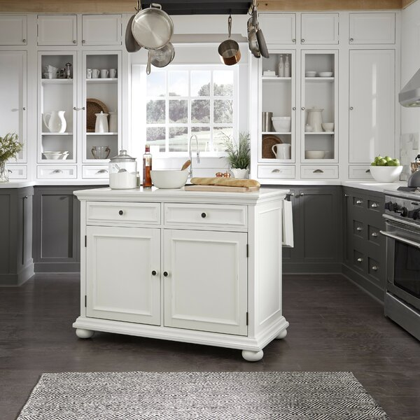 Rochford Kitchen Island with Granite Top by Three Posts