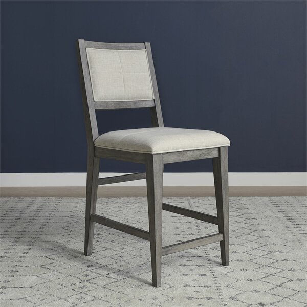 Altheimer Upholstered Side Chair in Gray (Set of 2) by Gracie Oaks Gracie Oaks