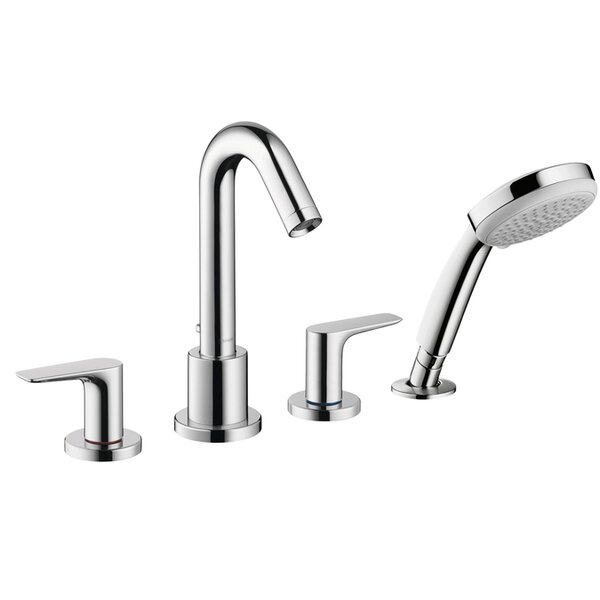 Logis Double Handle Deck Mounted Tub Set with Hand Shower by Hansgrohe