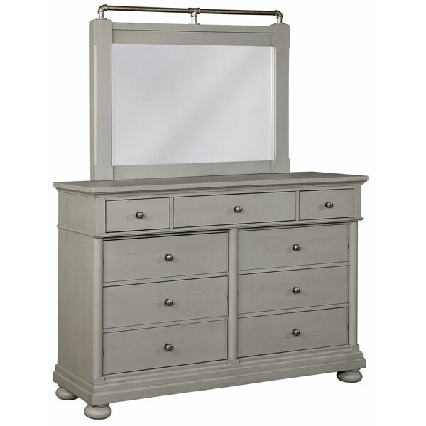 Design Blaire 9 Drawer Double Dresser With Mirror By Darby Home Co 2019 Sale