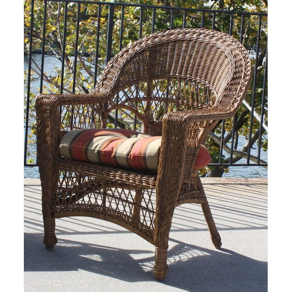 Camacho Patio Dining Chair with Cushion by August Grove