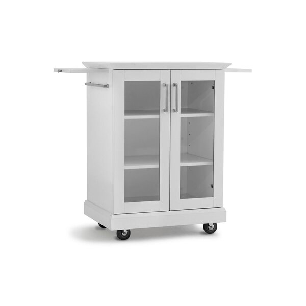 Rolling Cart Bar Cabinet by NewAge Products