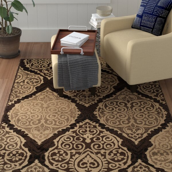 Sheila Rectangle Brown/Beige Area Rug by Winston Porter