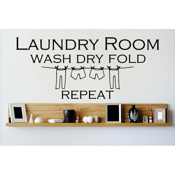 Laundry Room Wash Dry Fold Repeat Wall Decal by Design With Vinyl