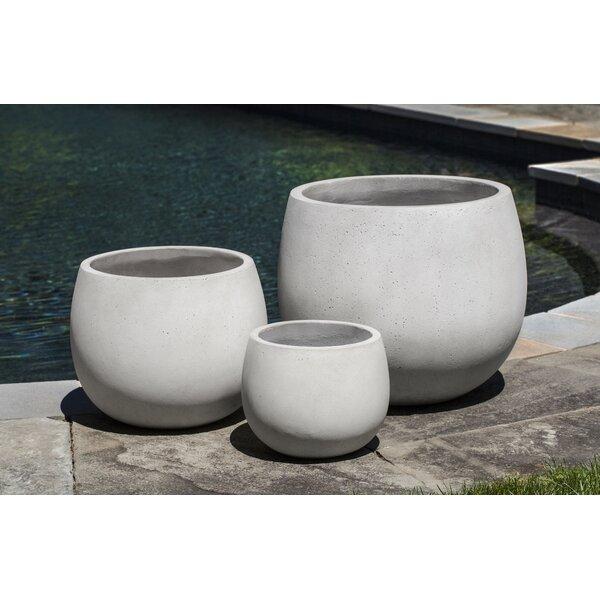Tighe 3-Piece Fiber Cement Pot Planter by Brayden Studio