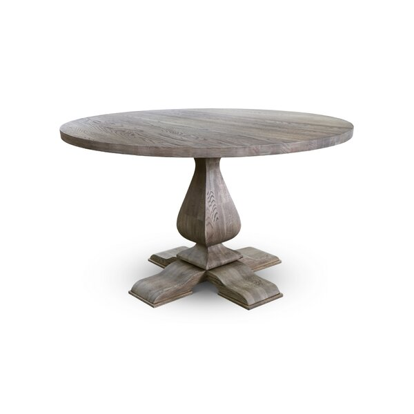 Carmel Solid Wood Dining Table by Canora Grey