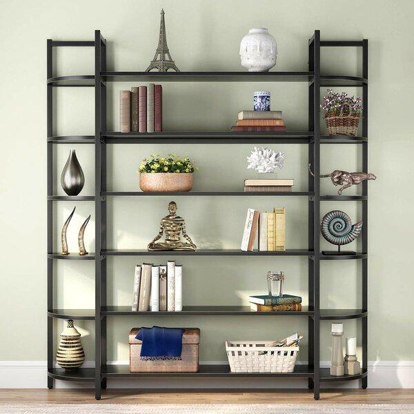 Alynn Triple Wide Library Bookcase By Latitude Run