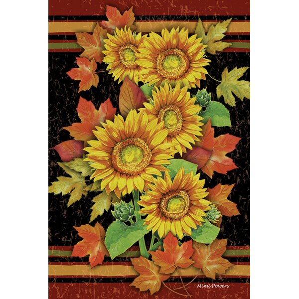 Sunflowers and Leaves Garden flag by Toland Home Garden