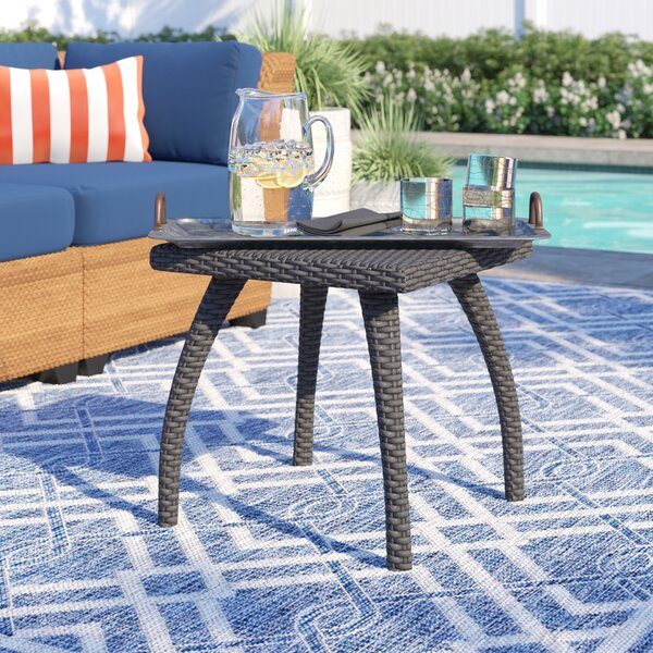 Hagler Wicker/Rattan Side Table by Sol 72 Outdoor