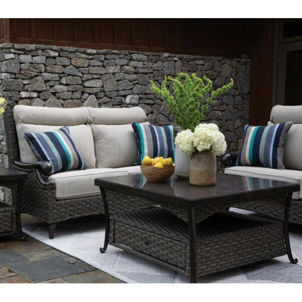 Guidi 2 Piece Sofa Seating Group with Sunbrella Cushions