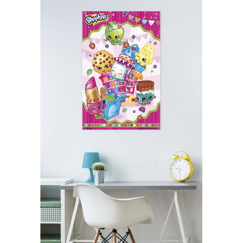 Shopkins Kids canvas wall art plaque pictures set of three