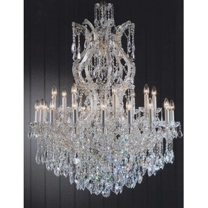 Gold Plated Crystal Chandelier | Wayfair