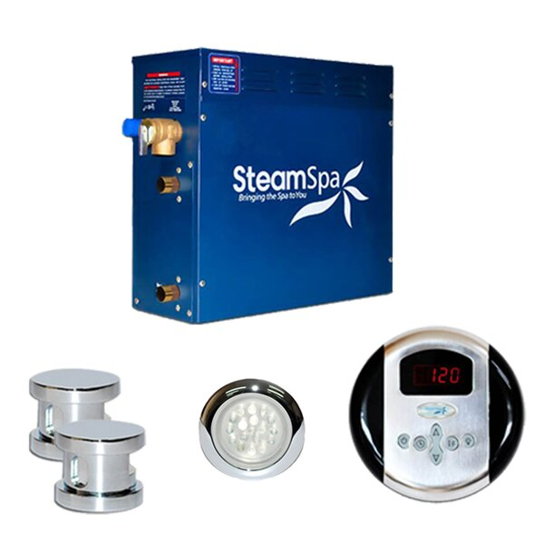 SteamSpa Indulgence 12 KW QuickStart Steam Bath Generator Package by Steam Spa