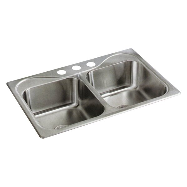 Southhaven 33 L x 22 W Double Bowl Kitchen Sink by Sterling by Kohler