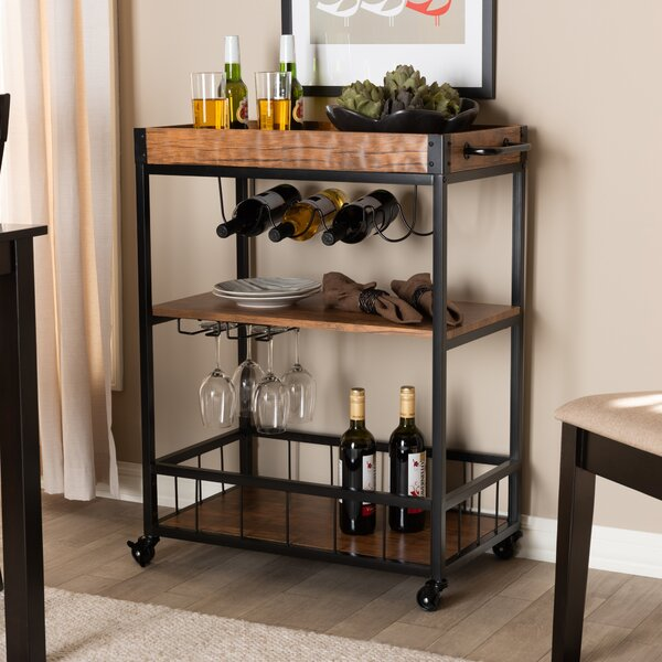 Tamarack Mobile Metal Bar Cart by Williston Forge
