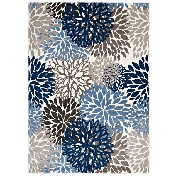 Hillam Vintage Classic Floral Blue/Brown/Beige Area Rug by Winston Porter